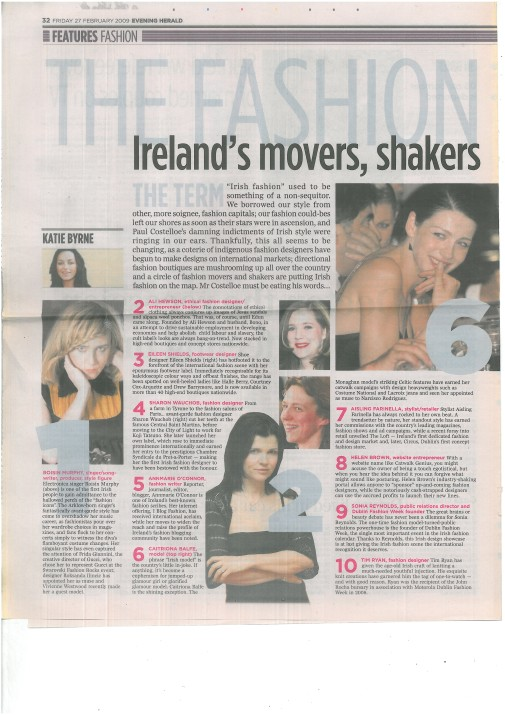 Evening Herald - Ireland's Movers and Shakers